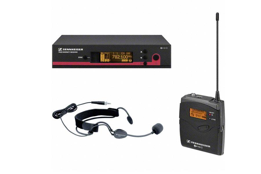 SENNHEISER EVOLUTION WIRELESS EW152 Funkmikro-Set bestehend aus Headset ME 3, Taschensender SK 100 G2 und Empfänger Empfänger EM 100 G2